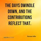 dwindle down