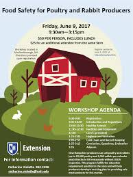 agriculture food and ag upcoming events unh cooperative food safety for poultry and rabbit producers friday 06 09 2017 09 30 am 03 15 pm