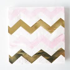 <b>20pcs</b>/<b>bag</b> Gold Pink Foil Wave Paper Napkins Wedding Birthday ...