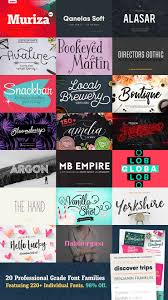 professional grade font families featuring individual 20 professional grade font families