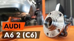 Как заменить подшипник <b>ступицы заднего колеса</b> на AUDI A6 (C6 ...