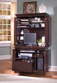 Computer Desk Cabinet Compact Computer Cabinet And Hutch Best Home Furniture Decoration