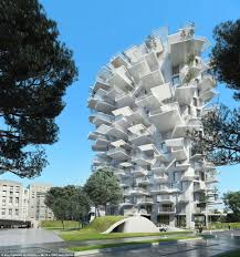 Apartment block that looks like a white tree  The ultimate tree    Standing tall at metres  the building will pierce the Montpellier skyline    a