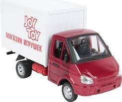 Инерционная машинка <b>Playsmart</b> Газель фургон: <b>Игрушки</b>, 24 см ...