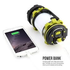 <b>Portable</b> LED <b>Camping Lantern USB</b> Rechargeable 3000mAh ...
