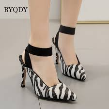 <b>BYQDY</b> Sexy Zebra Print <b>Women</b> High Heels Sandals <b>Fashion</b> ...