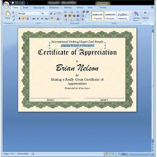 Best Photos of Office Certificate Templates - Microsoft Office ... Microsoft Office Word Certificate Templates