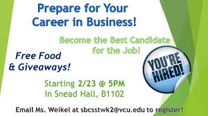 handouts school of business career prep for aw