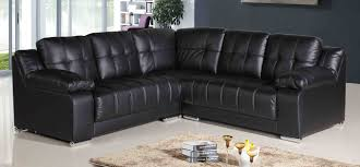 seductive living room with vancouver black leather sofa in l shape design with table black leather sofa