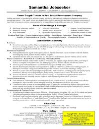 example targeted resume for real estate targeted resume examples