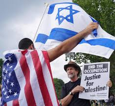 america the only power that can push for peace between a supporter of argued a supporter of during a demonstration on aug