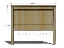 Queen Headboard Dimensions How To Build A Rustic Wood Headboard How Tos Diy