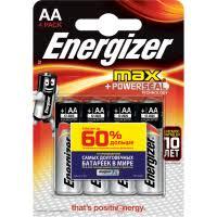 <b>Батарейки Energizer</b> МАХ типа АА, <b>4</b> шт. в упаковке купить по ...