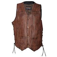 Mens High Mileage <b>Vintage Brown</b> 10 Pocket Vest