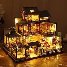 Art & Collectibles <b>Dollhouses</b> Sale Model Japanese Style Retro Villa ...