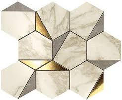 <b>Мозаика Atlas Concorde</b> Marvel Edge Gold Hex Gris-Calacatta 25.1 ...