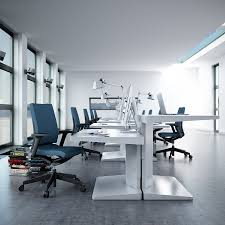 cool modern office design with white color small medium large blue glass top modern office
