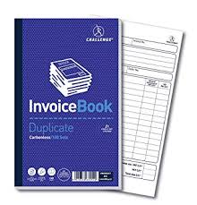Challenge 210 <b>x 130 mm</b> Duplicate Invoice Book with Vat ...