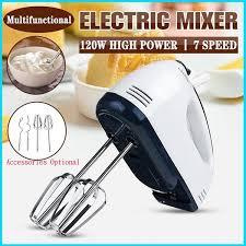 2020 Newest <b>7 Speed Control Hand</b> Mini Eggbeater Mixer Food ...