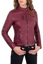 <b>Кожаная куртка AD MILANO</b> арт 0239_RED_PURPLE RED ...