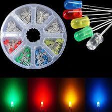 <b>160pcs 3mm LED Diodes</b> Yellow Red Blue Green Light Assortment ...