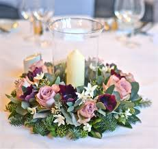 etechmart thicken clear pvc tablecloth table using light pink purple rose lantern centerpiece with flowers includin