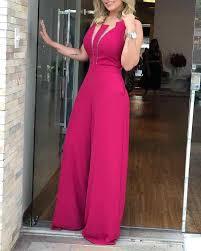 New <b>Women</b> Plunge Lace Bodice Insert <b>Jumpsuit V neck</b> Bodycon ...