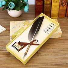 new retro european feather pen stationery ink set gift box signature plus seal full of writing supplies holiday