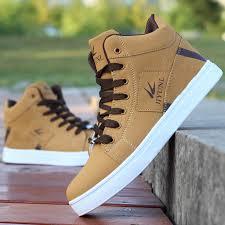 <b>Men's</b> High Top Sneakers <b>Casual Skateboarding</b> Shoes <b>Sports</b> ...