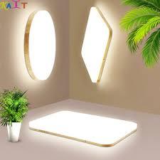 ultra thin <b>LED</b> Wooden Ceiling Lights for living room <b>modern</b> Ceiling ...