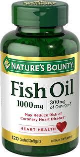 <b>Nature's</b> Bounty <b>Omega</b>-<b>3</b> Fish Oil <b>Odorless</b>, 1000 mg, 120 Softgels ...