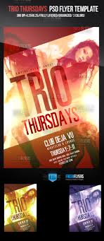 flyer templates party flyers psd flyers flyer templates trio thursdays club flyer template