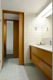 mid century modern exterior doors bathroom midcentury with bathroom design bubble lamp bathroom mid century