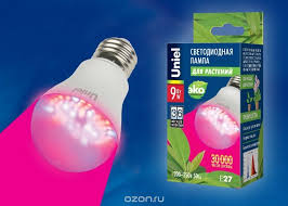 Светодиодная фито-<b>лампа</b> для растений <b>Uniel LED</b>-A60-9W/SP ...
