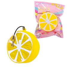 <b>Игрушка</b>-антистресс <b>Junfa Toys Мялка</b>-сквиши Долька лимона, 5 ...