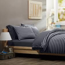 sets men bedroom  casual bedroom design simple masculine bedding gray striped comforter