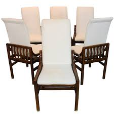 Henredon Dining Room Table Set Of Six Henredon Dining Chairs In Walnut At 1stdibs