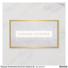 <b>Elegant Snakeskin</b> Print for Fashion Blogger Business Card | Zazzle ...