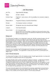 job description job title digital marketing manager salary 32000 38000 contract contract manager job description
