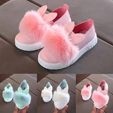 Fashion Toddler Children Kids Baby girls boots <b>Rabbit ears</b> Fur ...
