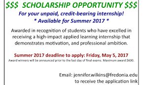 internship program students fredonia edu