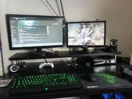 cozy cool computer setups and gaming setups home design decor ideas amazing office desk setup ideas 5