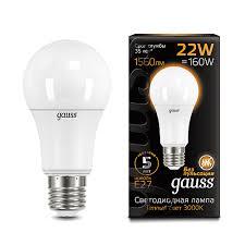 102502122 <b>Лампа Gauss LED A70</b> 22W E27 3000K