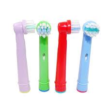 Beurha <b>4PCS</b>/<b>1Pack</b> Tooth Brush Heads <b>Replacement</b> Children ...