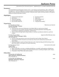 unforgettable branch manager trainee resume examples to stand out    branch manager trainee resume sample