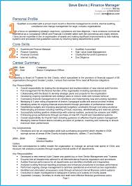 example of a good cv finance and accounting cv cv template