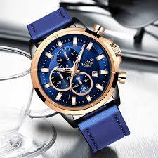 2020 LIGE New <b>Fashion Men</b> Watches Analog Quartz Wristwatches ...