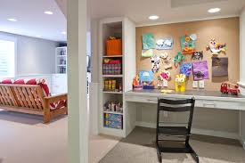 arts and crafts bookcase basement traditional with corkboard wall white desk charming office craft home wall storage