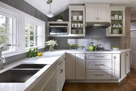 Gray And White Kitchen Designs Kitchen Design Ideas Remodel Projects Photos