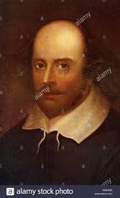 portrait of william shakespeare drama writer england william shakespeare born 1564 died 1616 english poet and dramatist stock photo